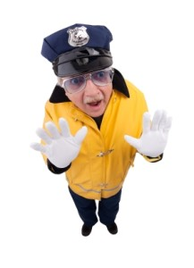 Comical Traffic Cop