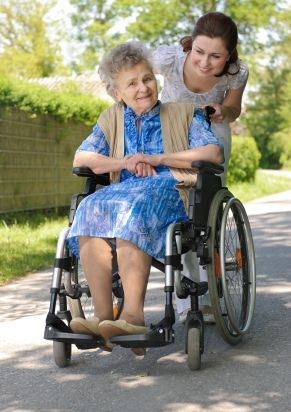 Older Woman in Wheel Chair