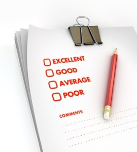 Comparison Check List with Red Pencil
