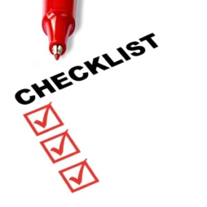 Checklist with Red Pen
