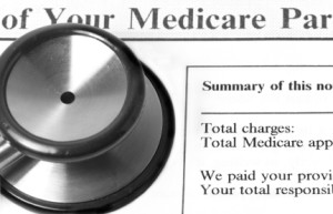 Stethoscope Resting on Medicare Billing Statement