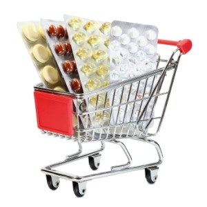 Walmart Shopping Cart Full of Prescription Medicine