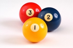 Three Billiard Balls