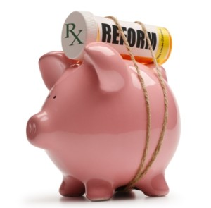 Rx Bottle States Reform - Tied to Piggy Bank