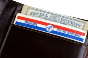Medicare and Social Security Card in Wallet