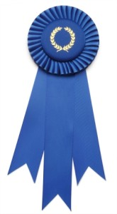 Fancy Blue Ribbon Award