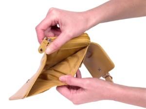 Woman's Hands Showing Empty Wallet