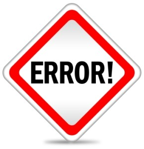 Traffic Type Sign Says Error