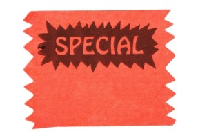 Word Special on Swatch of Cloth