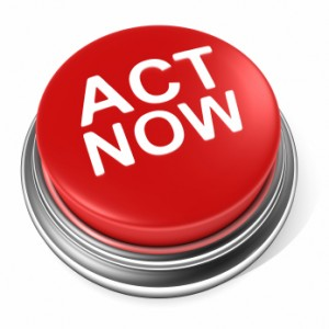 Red Act Now Button
