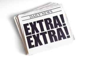 Newspaper Reads Extra Extra