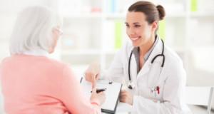 Senior Woman Getting Medicare Physical