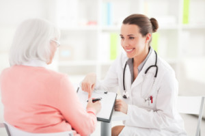 Senior Woman Getting Medicare Physical