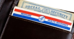 Medicare card in wallet